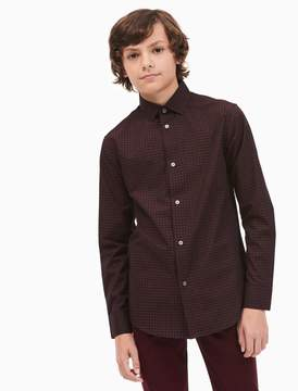 Calvin Klein boys end on end check shirt