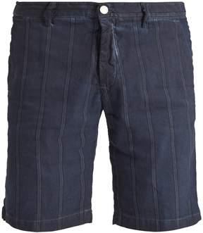 Massimo Alba Striped slim-leg linen and cotton-blend shorts