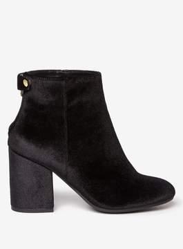 Dorothy Perkins Black 'Mariah' Velvet Boots