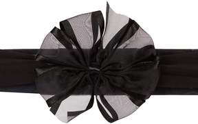 Starting Out Baby Girls Satin Edge Large Bow Headband