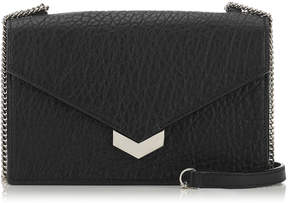 Jimmy Choo LEILA Black Grainy Leather Mini Cross Body Bag