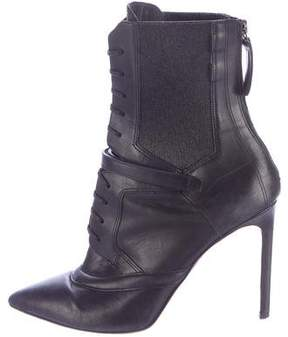 HUGO BOSS Leather Lace-Up Ankle Boots