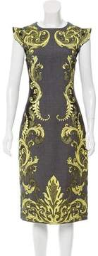 Andrew Gn Lace-Accented Wool Dress