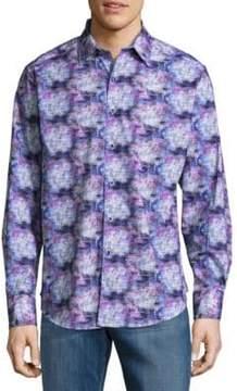 Robert Graham Balmore Cotton Casual Button-Down Shirt