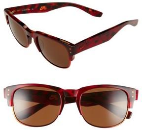Nike Volition 54Mm Sunglasses - Red Tortoise