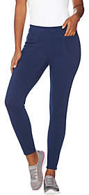 Denim & Co. Active Pull-on Fleece Lined Knit Leggings