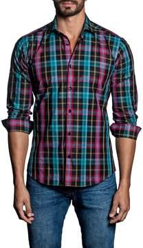 Jared Lang Men's Plaid Cotton Sportshirt