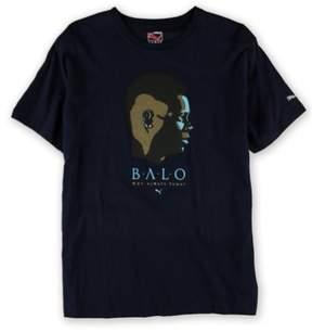 Puma Mens Why Always? Balo Graphic T-Shirt Blue XL