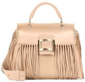 Roger Vivier Fringed leather shoulder bag