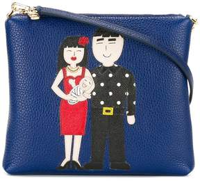 Dolce & Gabbana Family patch crossbody bag - BLUE - STYLE
