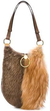 Marni furry wide shoulder bag