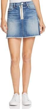 Blank NYC BLANKNYC Zip Detail Frayed Denim Skirt - 100% Exclusive