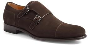 a. testoni Men's Double Monk Strap Shoe