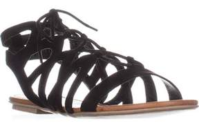 American Rag Ar35 Marlie Flat Lace-up Sandals, Black.