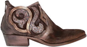Strategia 50mm Suede & Glitter Ankle Boots