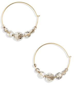 Chan Luu Women's Graduated Crystal Hoop Earrings