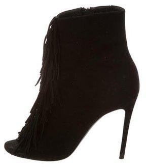 Barbara Bui Fringe Ankle Boots