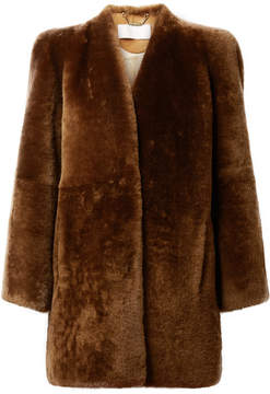 Chloé Shearling Coat - Brown