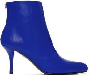Marni Blue Domesticated Sheep Ankle Boots
