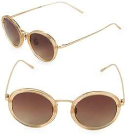 Linda Farrow 46MM Round Sunglasses