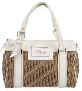 Christian Dior Leather-Trimmed Diorissimo Handle Bag