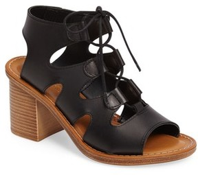 Bella Vita Women's Bre Lace-Up Block Heel Sandal