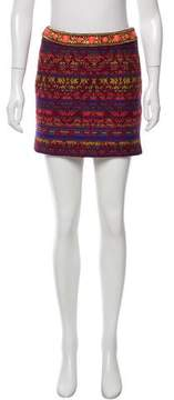 Matthew Williamson Patterned Mini Skirt