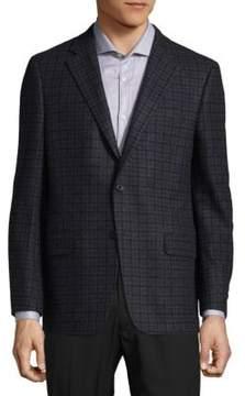 Hickey Freeman Checkered Blazer