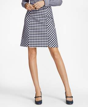 Brooks Brothers Gingham Double-Weave Skirt