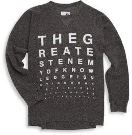Nununu Girl's Vision Test Sweatshirt
