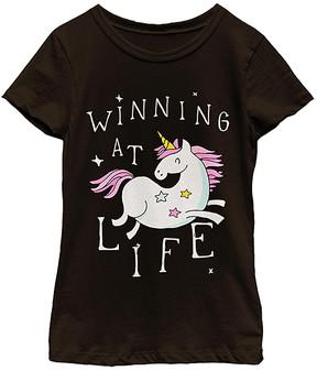 Fifth Sun Black 'Winning at Life' Tee - Girls