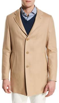 Loro Piana Short Cashmere Three-Button Coat