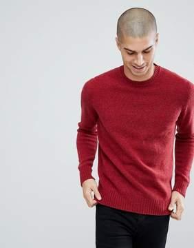 Benetton Sweater In Shetland Wool In Red