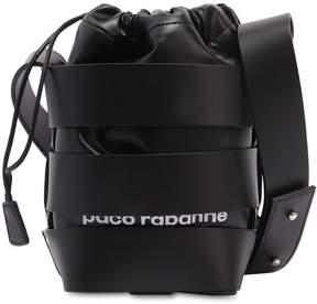 Paco Rabanne Mini Cage Leather Bucket Bag
