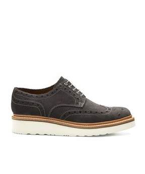 Grenson Shoes Archie Brogue in Lavagne Suede