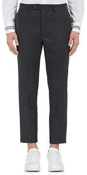 Officine Generale Men's Wool Flannel Flat-Front Trousers
