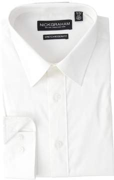 Nick Graham Solid Stretch Point Collar Shirt Men's Long Sleeve Button Up