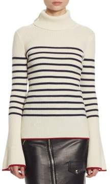 Each X Other Stripe Turtleneck Cotton Sweater