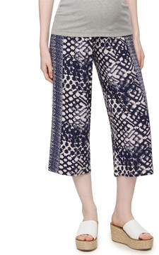 A Pea in the Pod Secret Fit Belly Cotton Woven Wide Leg Maternity Pants