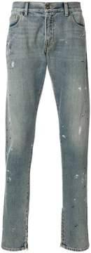 Ih Nom Uh Nit distressed zip hem jeans