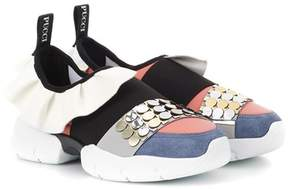 Emilio Pucci Embellished slip-on sneakers