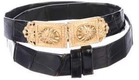 Judith Leiber Vintage Alligator Waist Belt