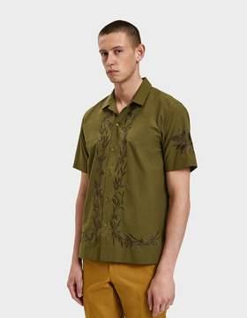 Dries Van Noten Embroidered Shirt in Kaki
