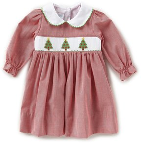 Edgehill Collection Baby Girls 3-24 Months Christmas Tree Smocked Dress