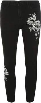 Dorothy Perkins Black 'Darcy' Metallic Embroidered Jeans