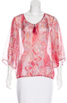 Ella Moss Silk Long Sleeve Top w/ Tags