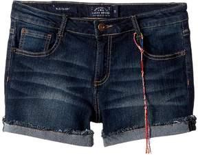 Lucky Brand Kids Riley Denim Shorts in Barrier Wash Girl's Shorts