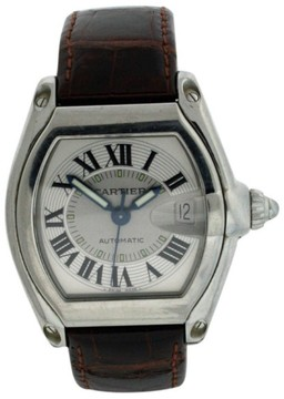 Cartier Roadster Stainless Steel & Leather 38mm x 43mm Watch