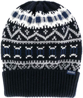 Woolrich embroidered beanie hat
