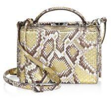 Mark Cross Grace Metallic Python Shoulder Bag